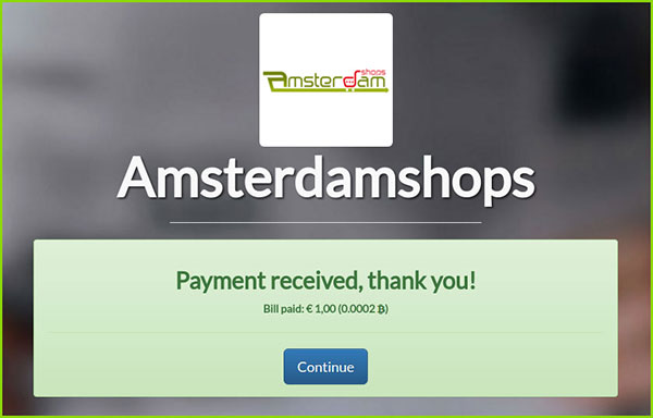 bitcoin payment amsterdamshops