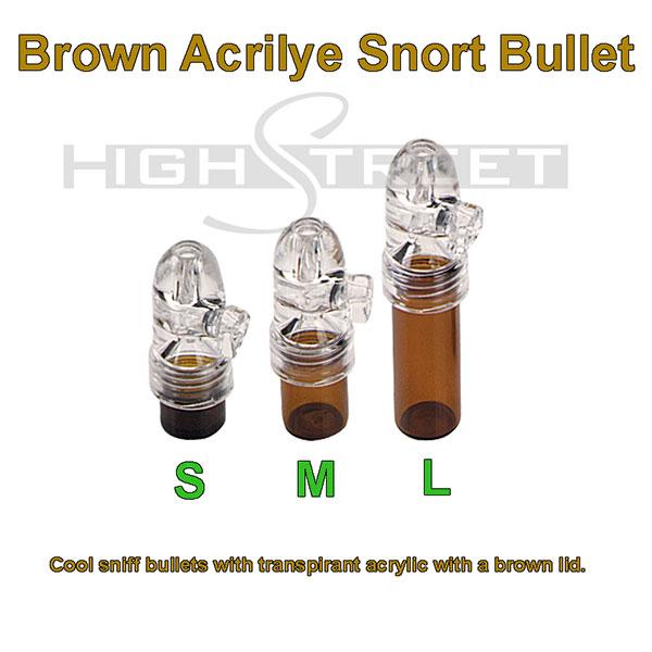 Brown Acrilye Snort Bullet